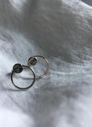 Сережки срібло 925 мінімалізм кульчики гвіздки серёжки серебро...