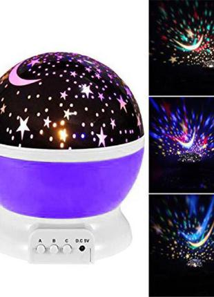 Вращающийся ночник проектор звездное небо star master