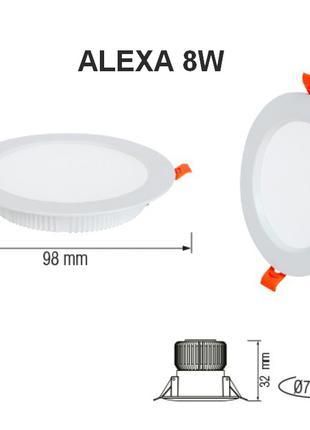 Светильник светодиодный врезной ALEXA 8, 12, 20, 24 Вт в ассортим
