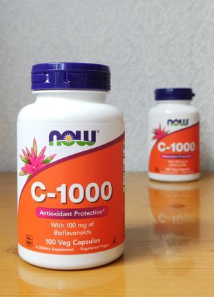 Now Foods, Витамин C-1000, с биофлавоноидами, 100 капсул