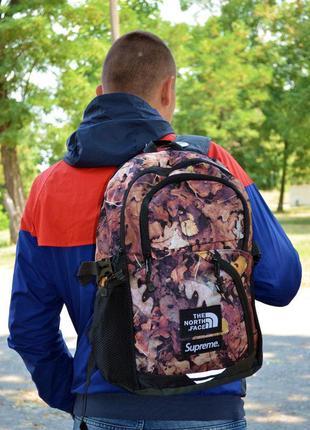 Рюкзак городской supreme x tnf backpack maple leaves