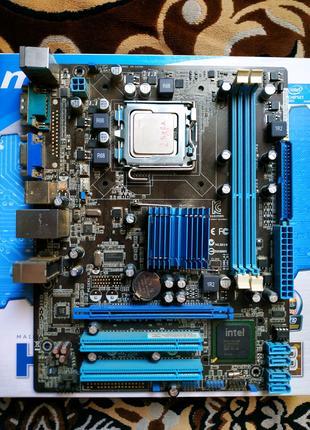 Asus P5G41T-M LX2/GB- C процессором.