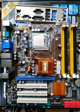 Комплект ASUS P5Q-VM DO с процессором 4ядра