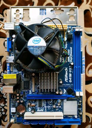 Комплект ASRock G41M-VS3 на DDR-3 памяти.