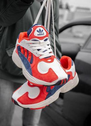 Стильные кроссовки унисекс adidas yung 1 red