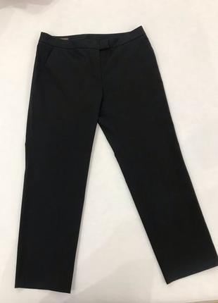 Чёрные классические укорочённые брюки штаны s.oliver