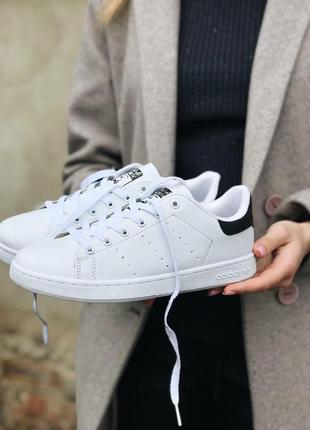 Мужские кеды adidas stan smith white / black