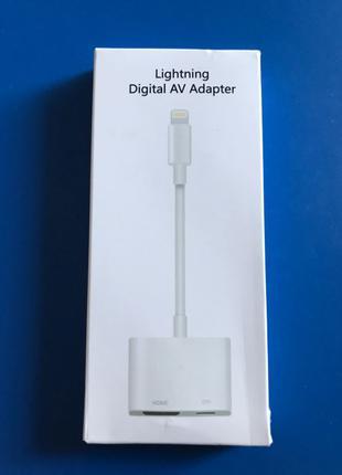 HDmi Lightning 1080p адаптер iPhone 11 iOS13