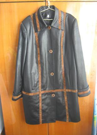 Женское пальто-плащ 50 размер
