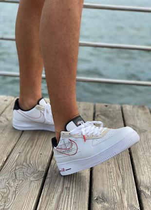 Кроссовки Nike Air Force Script Swoosh White