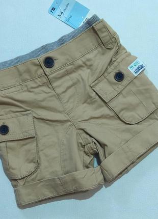 Песочные шорты с карманами mothercare р. 3-6 мес