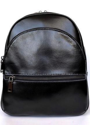 """Женский кожаный рюкзак """"hellion"""" черный"""