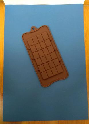 Форма для шоколада, плитка шоколада