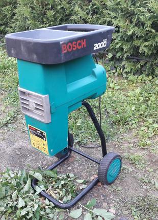 BOSCH 2000W измельчитель веток садовый шредер дробилка подрібнюва