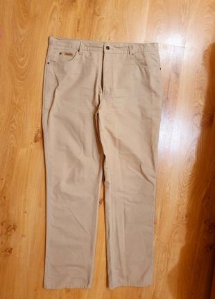 Брюки штаны мужские бежевые  коттон Wrangler прямые 52 54 размер