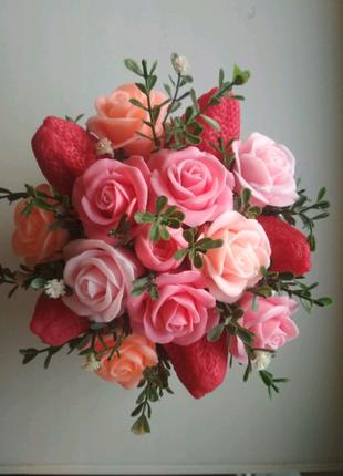 Букеты из мыла ручной работы цветы на 1 сентября