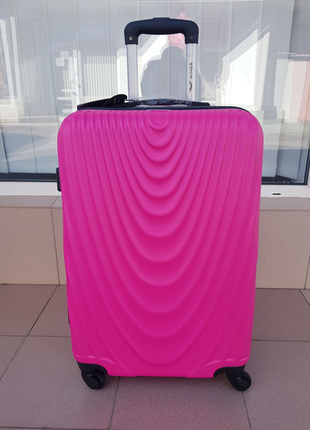 Чемодан средний с увеличением Wings 304 pink Польша.