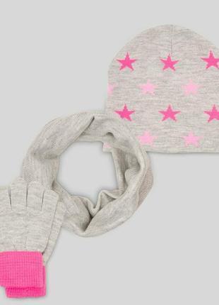 Шапка, снуд, перчатки c&a, германия