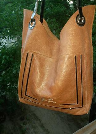 Кожаная сумка velina fabbiano хорошее состояние
