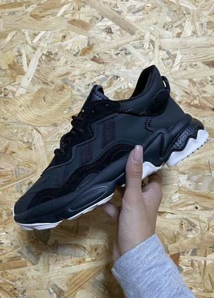 Кроссовки Adidas Ozweego Black White