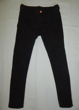 Джинсы модные skinny fit на девочку 12-13 лет до 158см