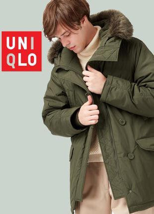 Мужская куртка парка с мехом uniqlo