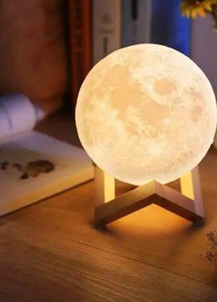Настольный светильник Magic 3D Moon Lamp 15 см / Ночник Star M...