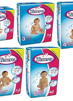 Подгузники детские TENERA Premium Jumbo Pack, размер 3.4.5