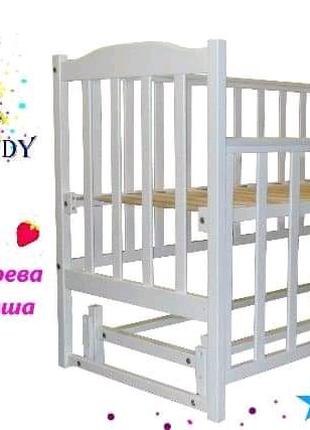Кроватка с маятниковым механизмом для новорожденных