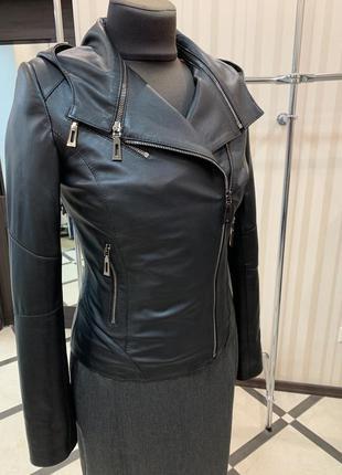 Куртка кожаная турция трансформер
