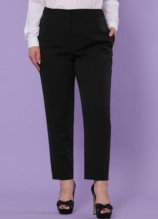 Черные брюки больших размеров ♡