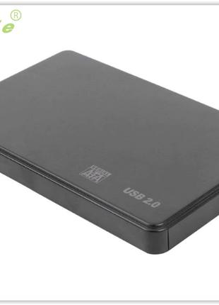 """Внешний корпус для HDD SSD карман SATA 2.5"""" USB 2.0 Черный бокс"""
