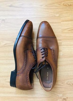 Zara мужские туфли коричневые