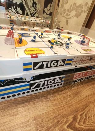 Настольная игра хоккей Stiga Play OFШвеция, в  отличном состоянии