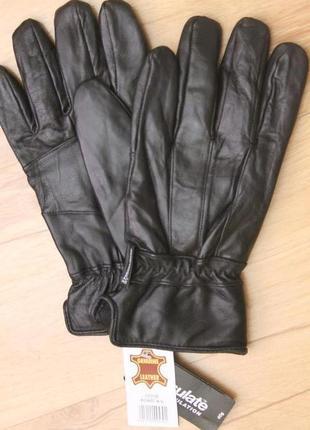 Мужские кожаные зимние перчатки thinsulate.