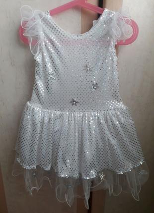 Новогоднее платье снежинка