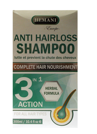 Шампунь от выпадения волос SHAMPOO ANTI HAIRLOSS 3 IN 1 (HEMANI)