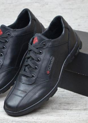 Мужские кожаные кроссовки туфли Columbia