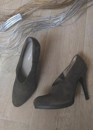 Замшевые туфли autograf цвета хаки, размер 39-40