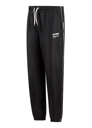 Мужские спортивные штаны черная плащевка lee cooper ли купер о...