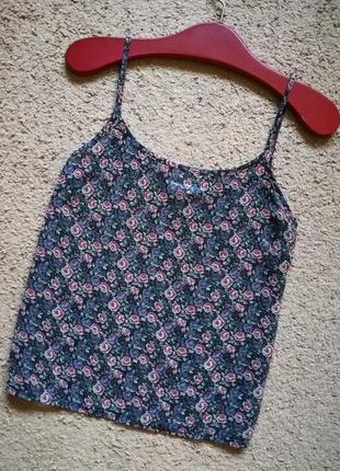 Блуза майка из шифона с нежным рисунком мильфлер