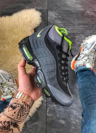 Nike air max 95 sneakerboot black volt