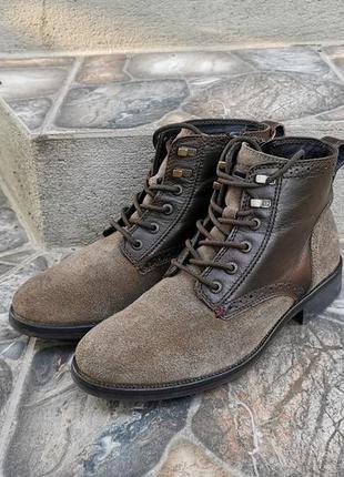 40 р. оригинал кожаные демисезонные ботинки tommy hilfiger gor...