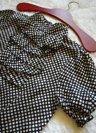 Peron винтаж блуза в горошек