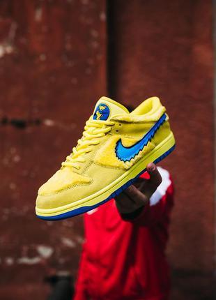 Nike sb dunk low x grateful dead кроссовки