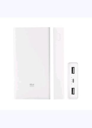 Универсальная батарея Xiaomi Mi Power Bank 20000mAh MI S9 White,
