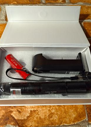 Мощная Лазерная Указка ЛАЗЕР Laser 303 Green с Насадкой Лазер