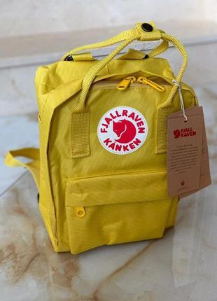 Рюкзак fjallraven kanken mini 7л l yellow купить канкен мини ж...
