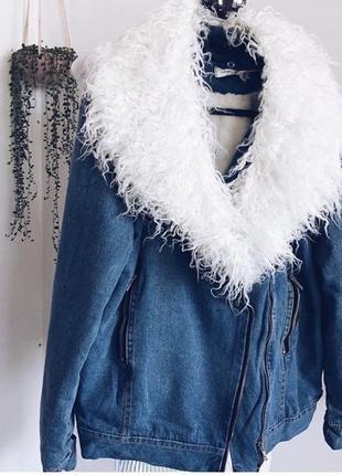 Джинсовая куртка, джинсовая тёплая куртка, джинсовый пиджак