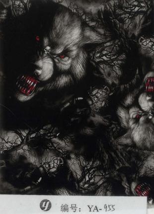 HD пленка волки YA955 (100см)